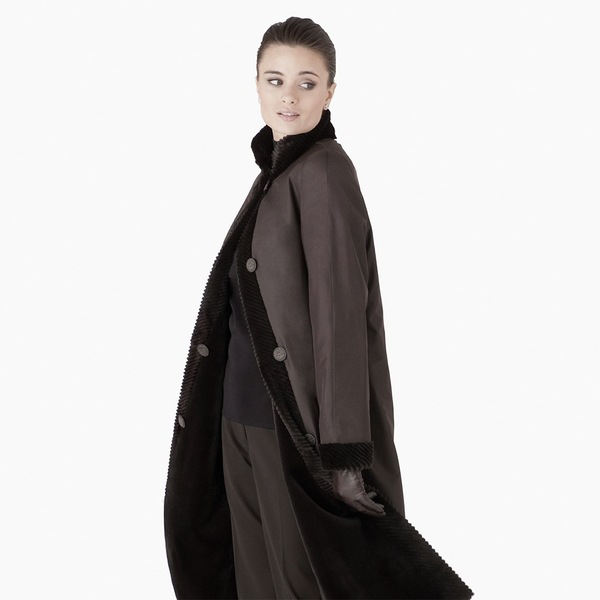 Espresso Dyed Sheared Mink Reversible Coat